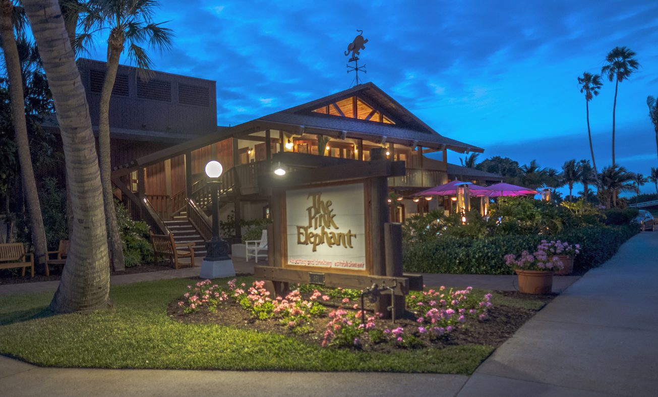 The Pink Elephant restaurant on Boca Grande