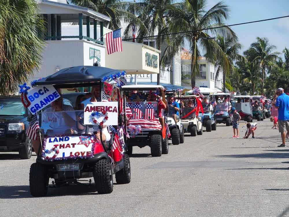 4th of July Golf Cart Parade on Boca Grande