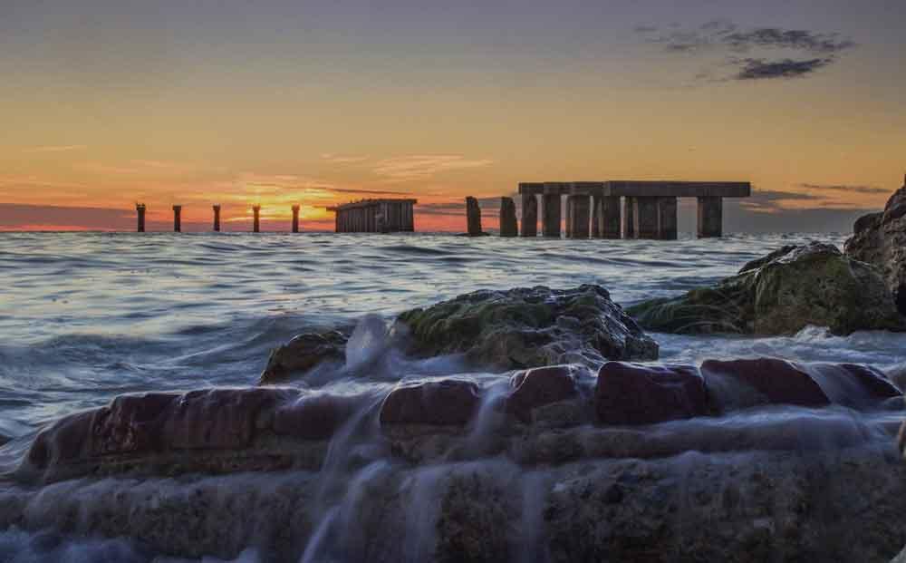 Old Fishing Pier at sunset on Boca Grande